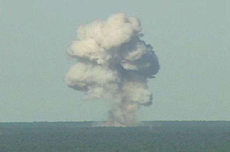 A smoke cloud created by a MOAB